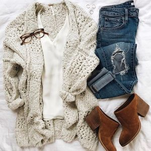 Free People Saturday Morning cable knit sweater